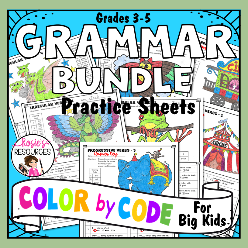 Color by Code Grammar Bundle
