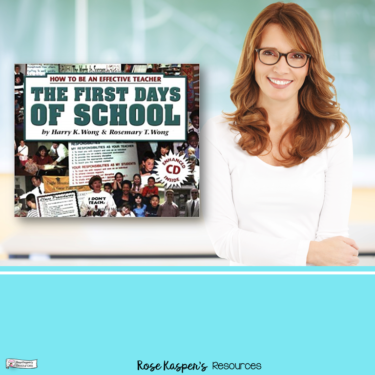 Picture of Smiling, confident teacher with copy of Harry K. Wong's The First Days of School, How to Be an Effective Teacher