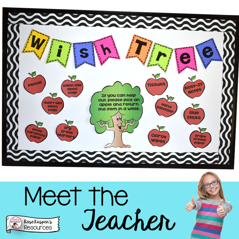 Meet the Teacher Wish Tree