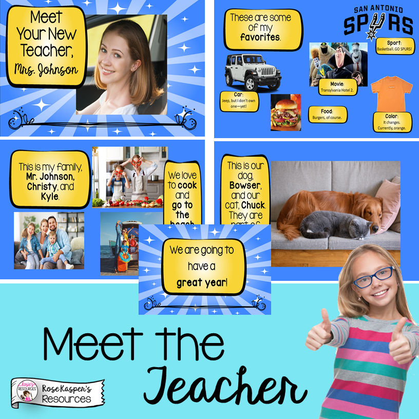 Meet the Teacher PowerPoint presentation