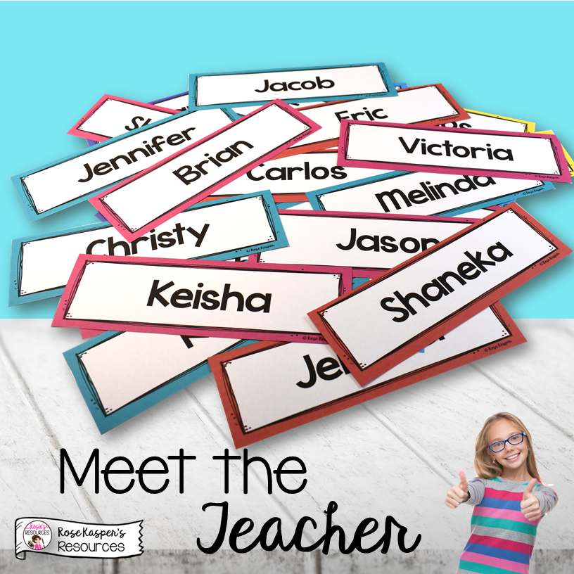 Meet the Teacher Name Plates